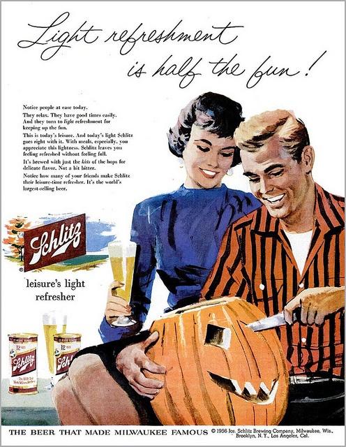 vintage_retro_halloween_ad_schlitz1956