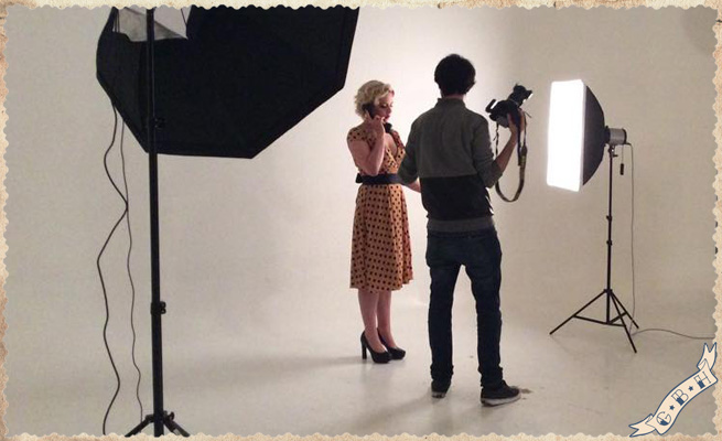 Pin-up style shooting