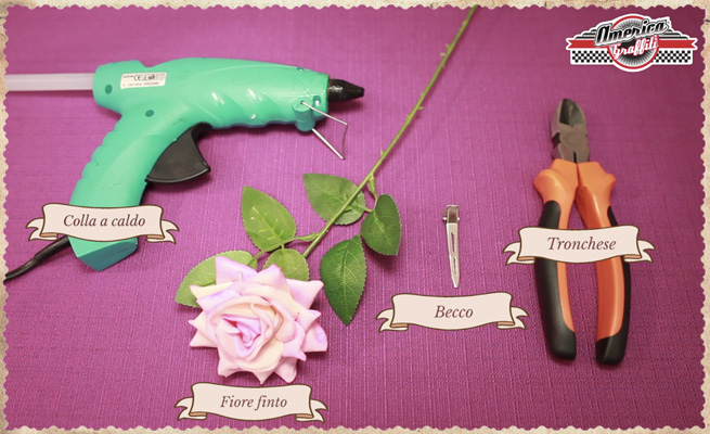 fiore capelli floral hair diy occorrente